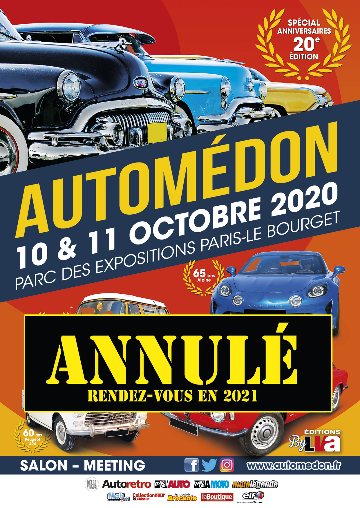 Annulation du salon Automédon 2020